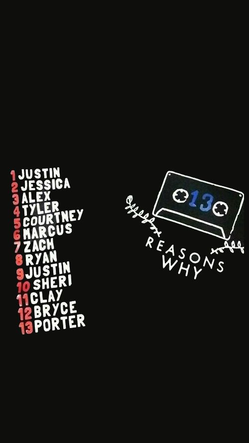 13 reasons why order of tapes poster