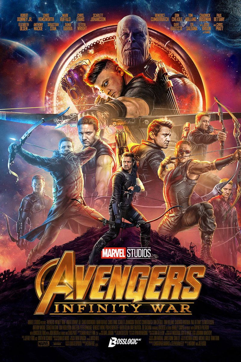 Hawkeye Avengers Infinity War Poster Fan-Made Poster Collection