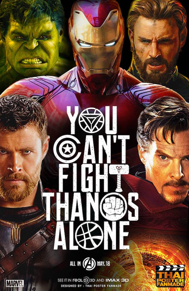 Avengers Infinity War Poster Fan-Made Poster Justice League