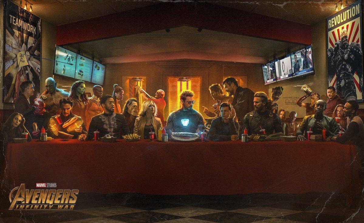 The Last Shwarma - Avengers Infinity War Poster