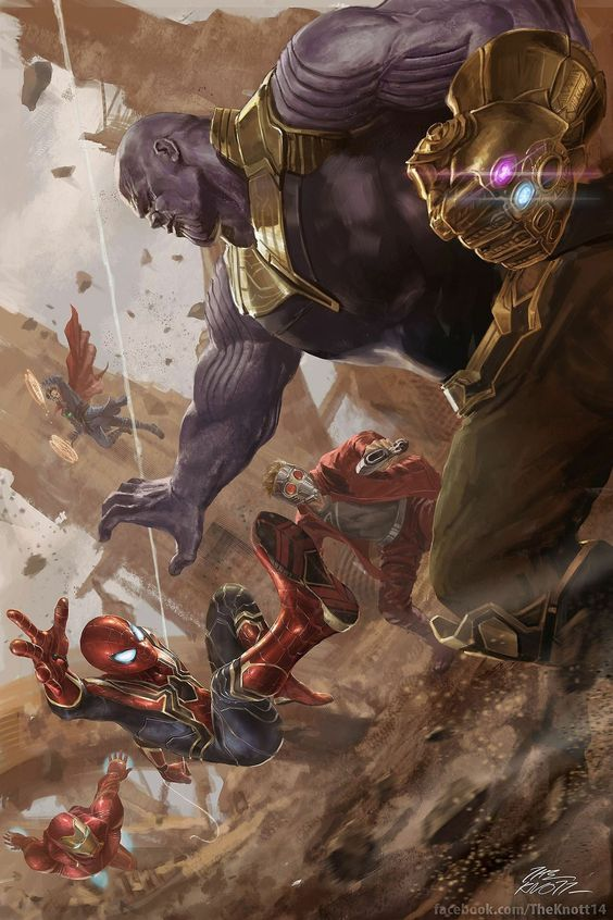 Avengers Infinity War Poster Fan-Made Poster Spiderman-Thanos