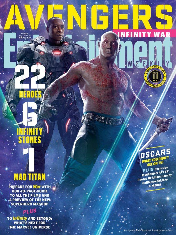 Avengers Infinity War Poster - Drax and War Machine