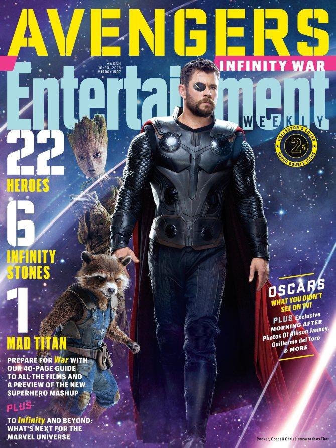 Avengers Infinity War Poster - Thor, Rocket, Groot