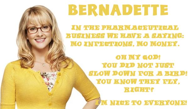 Big bang theory poster Bernadette