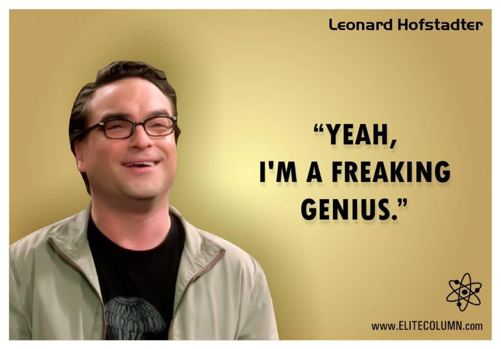 Big Bang Theory poster Leonard Hofstadter