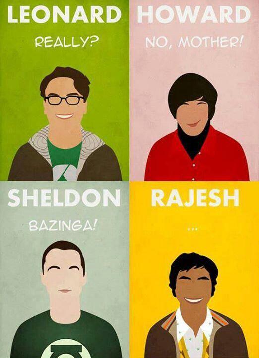 Big bang theory nerds poster