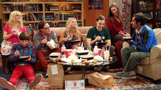 Big bang theory all having dinner poster