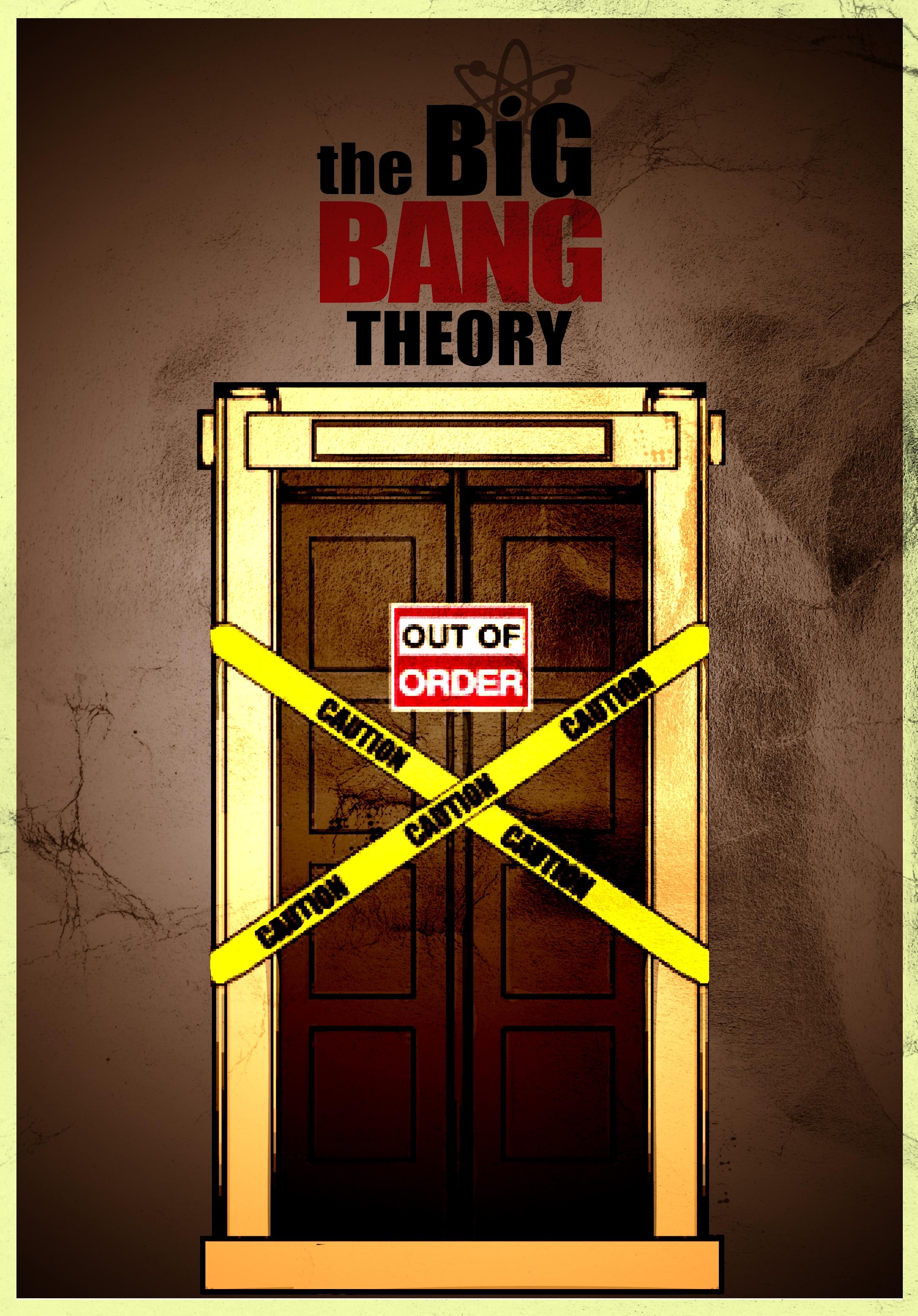 Big bang theory broken elevator poster