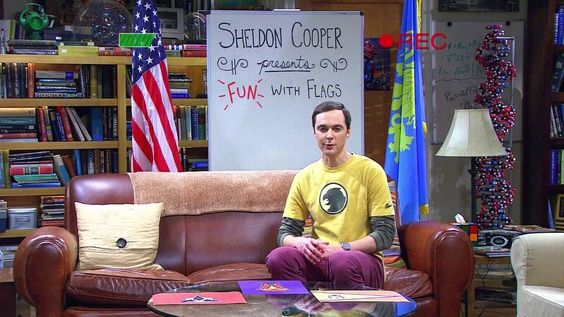 Big bang theory Sheldon fun with flags poster