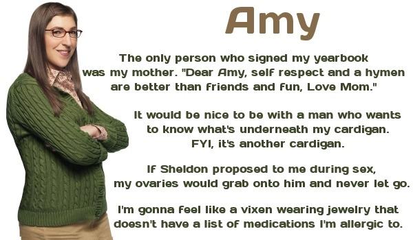 Big bang theory poster Amy Fowler