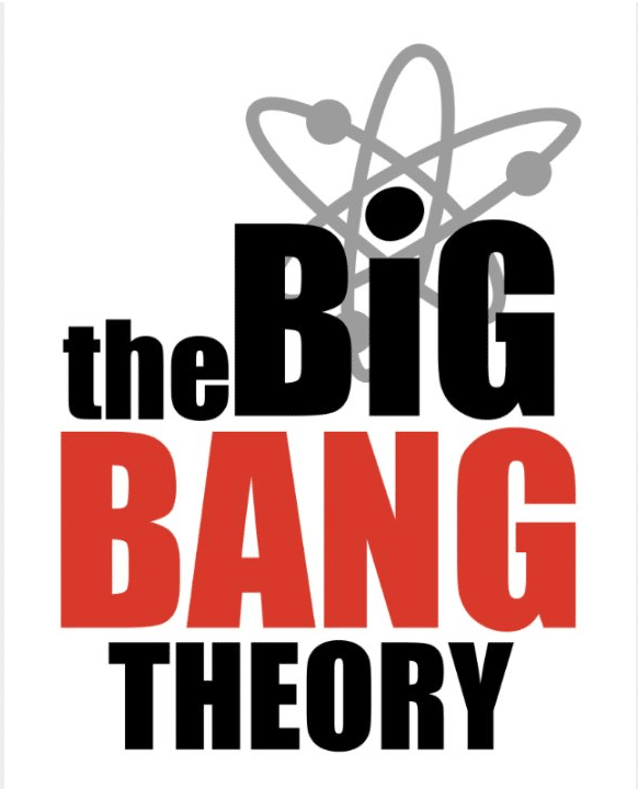 Big bang theory simple title poster