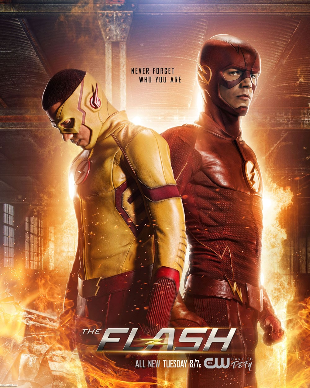 The flash and kid Flash poster