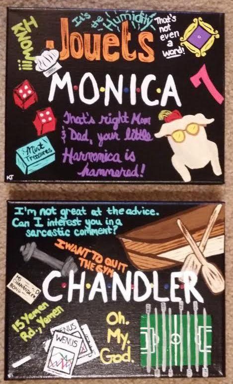 Friends Chandler Monica poster
