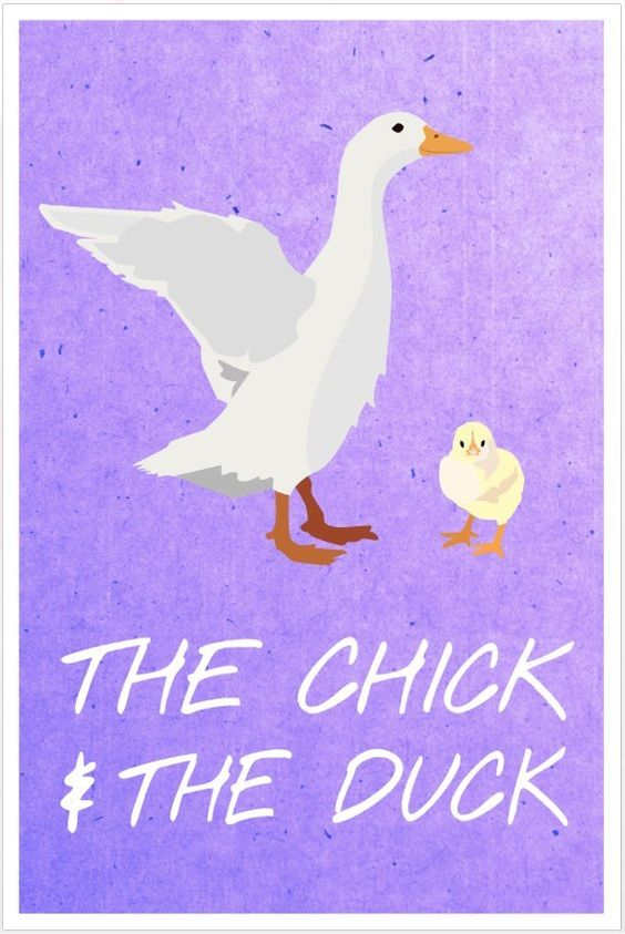 Friends poster Duck and Chick