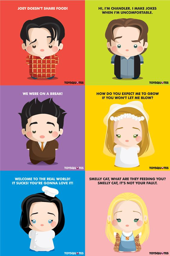 Friends poster cute charaters introduction