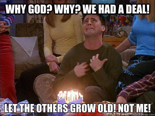 Friends poster Joey birthday