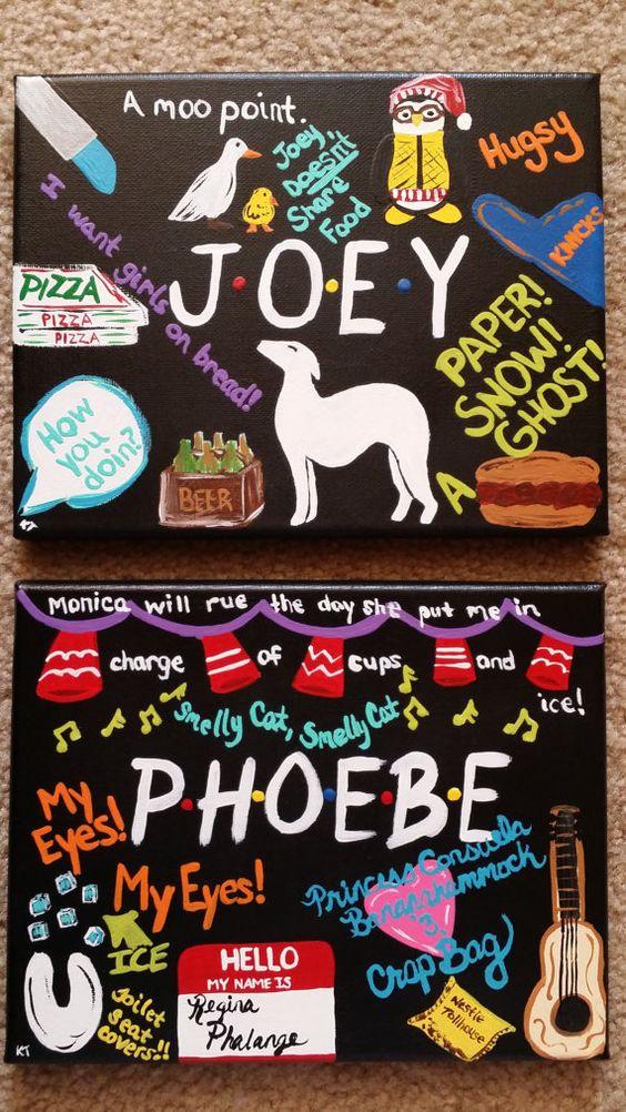 Friends Joey Phoebe poster
