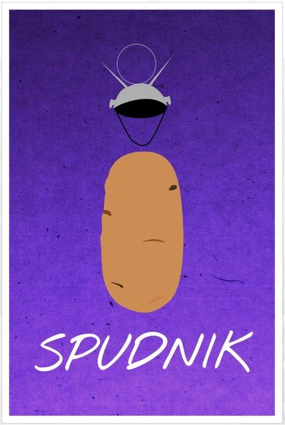 Friends poster Spudnik Ross