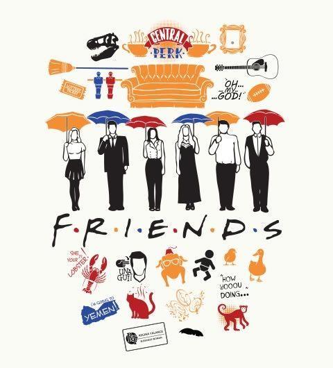 Friends poster cute memories