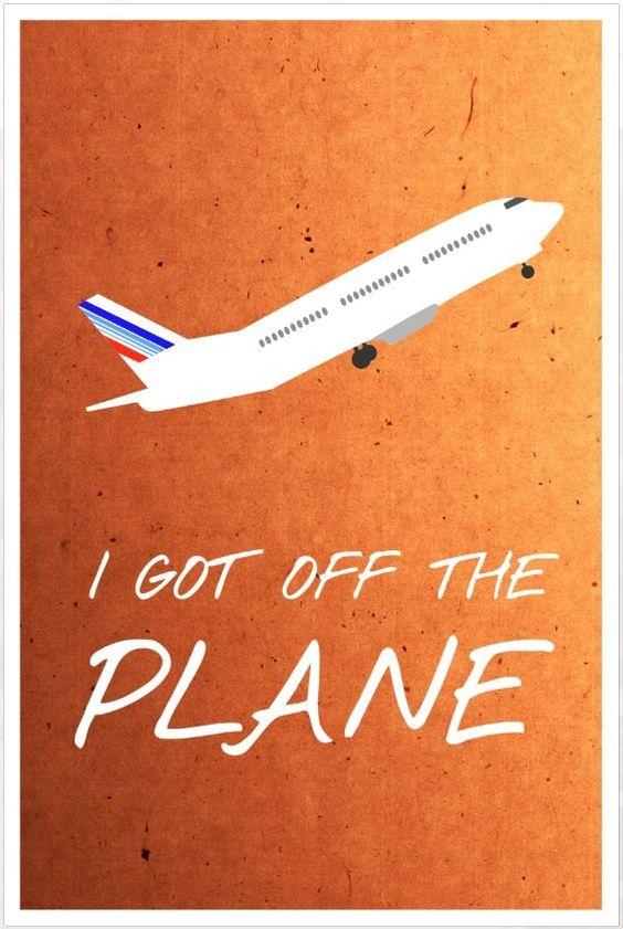 Friends poster Rachel gets off the plane