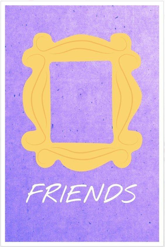 Friends poster door frame