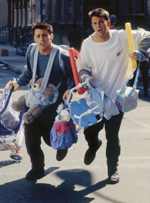 Friends poster Joey and Chandler scenes