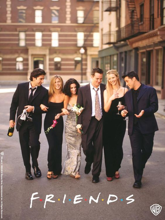 FRIENDS poster suit up