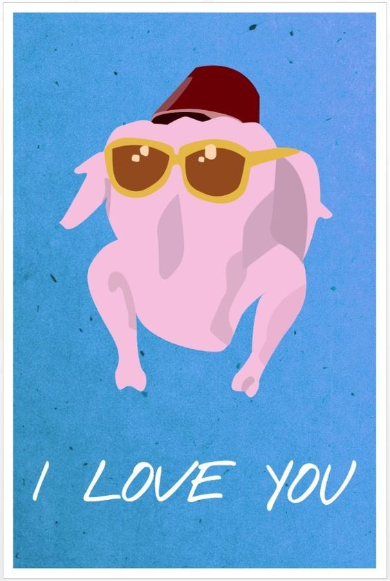 Friends poster Monica turkey