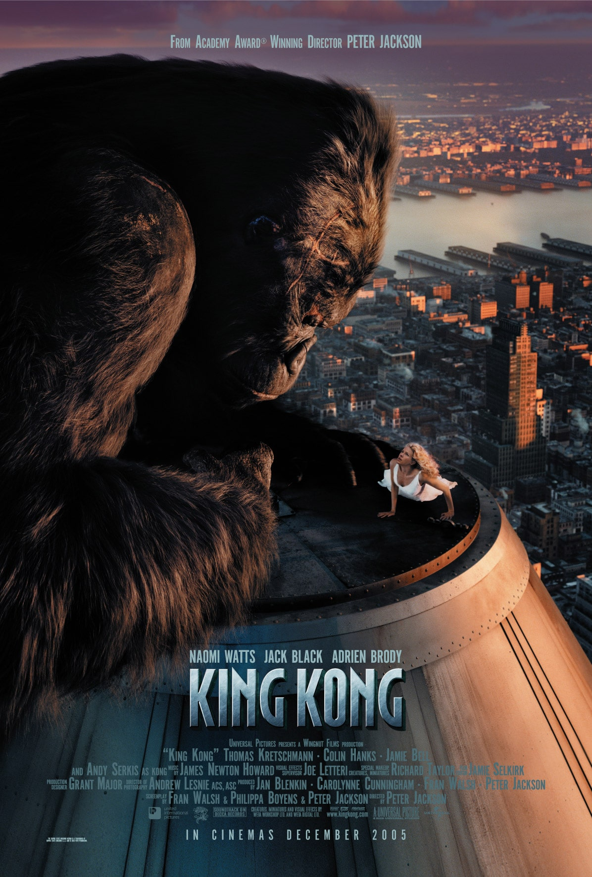 King Kong movie 2005 official poster