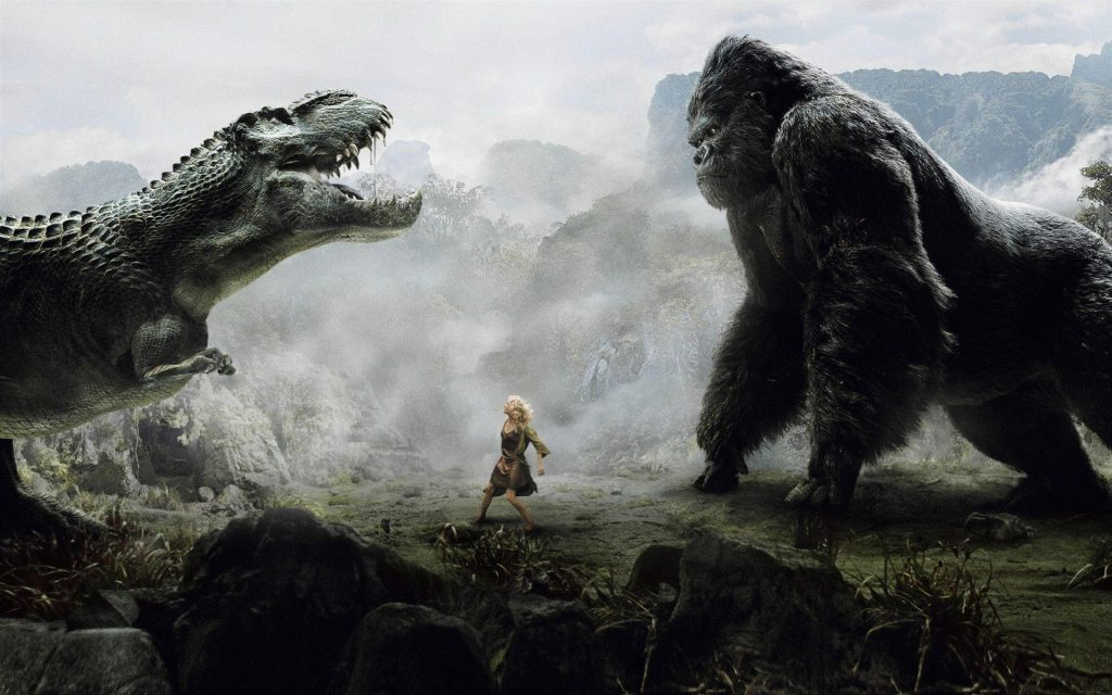 King Kong and V-Rex fight poster