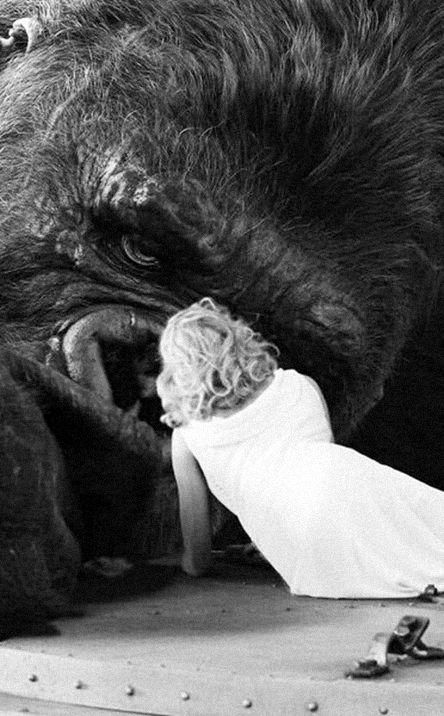 Last scene of King Kong poster
