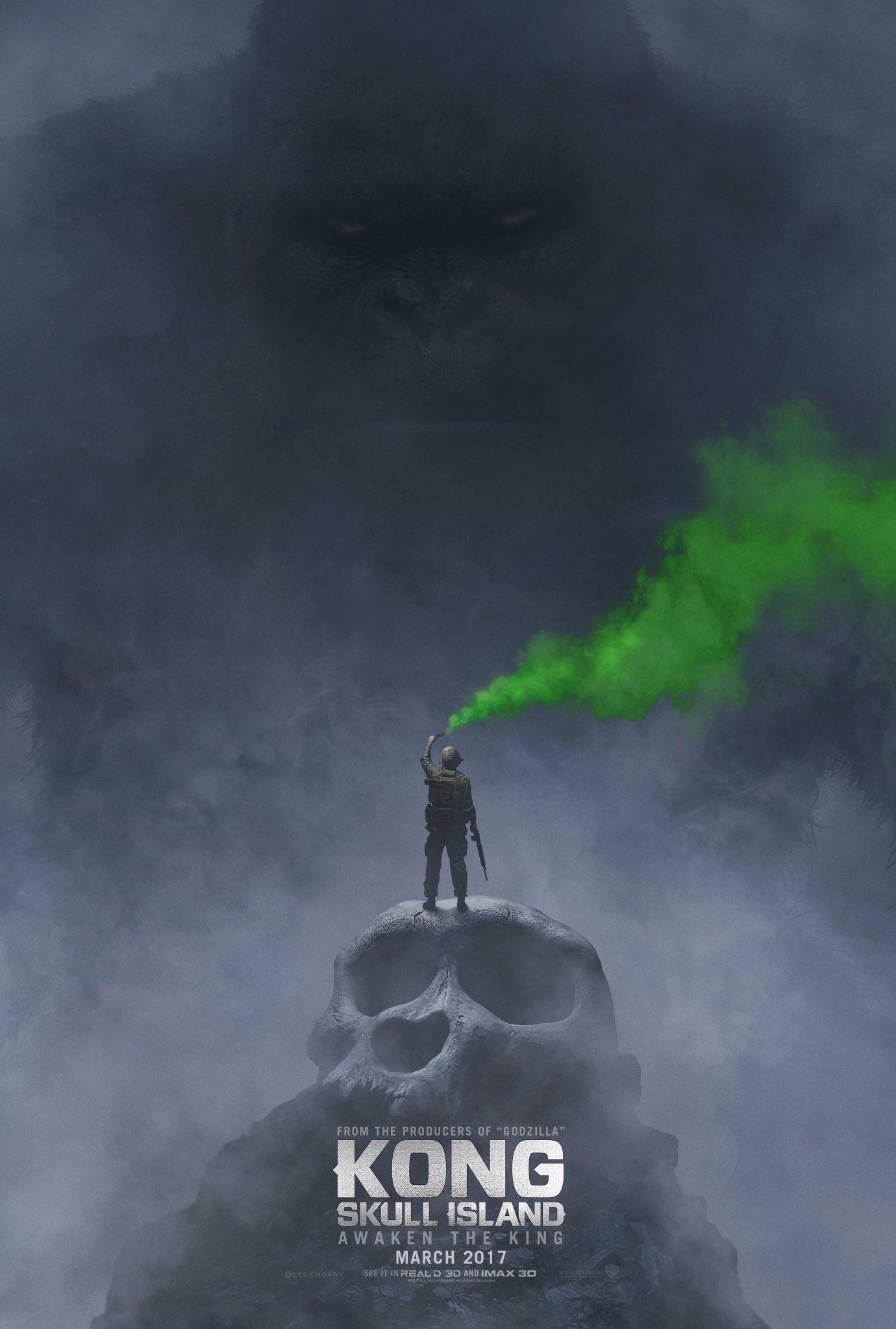 King Kong: Skull Island Awaken the king poster