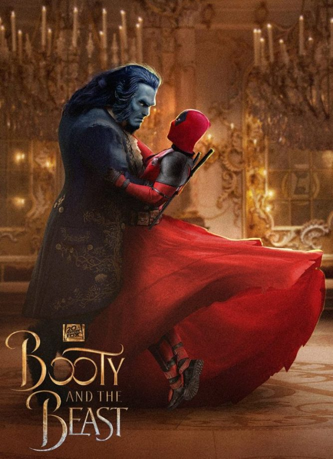 Deadpool 2 Parody Poster - Beauty and The Beast