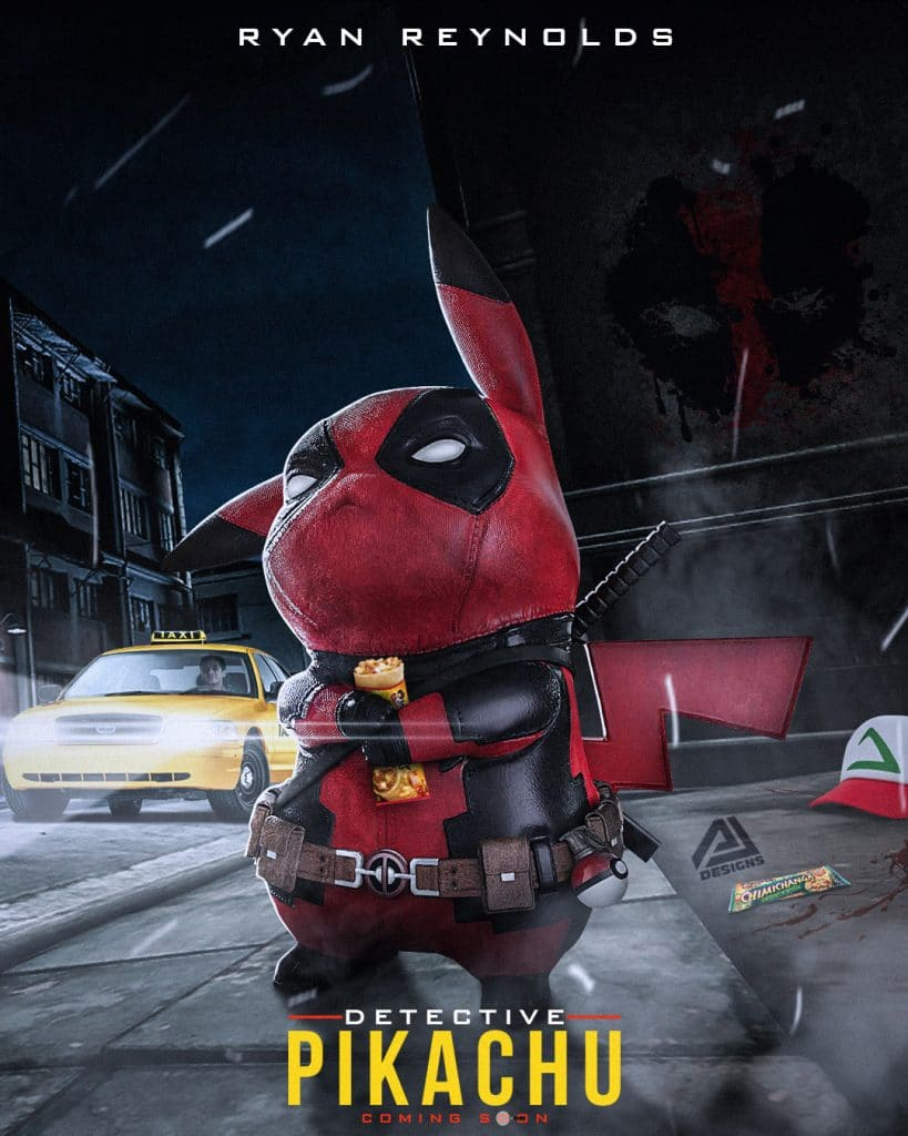 Deadpool 2 Parody Poster - Detective Pikachu