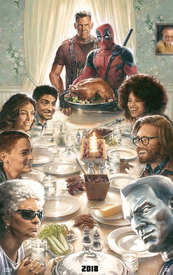 Deadpool 2 Thanksgiving Dinner Poster