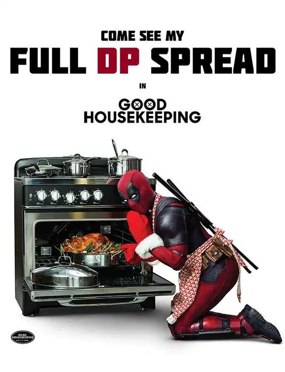 Deadpool 2 Thanksgiving Poster - Good Housekeeping
