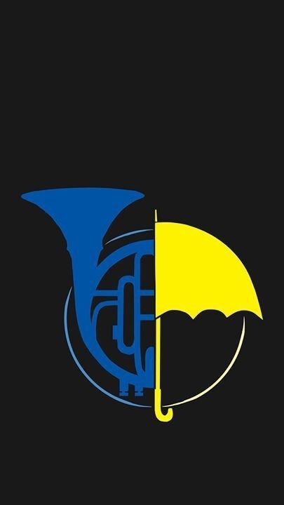 How I Met Your Mother Umbrella and Blue horn poster