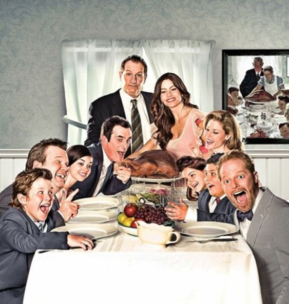 Modern Family painting poster