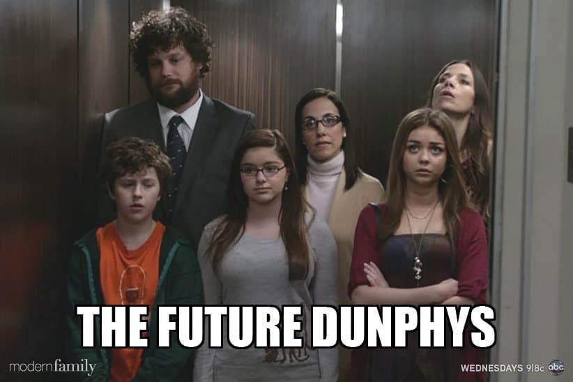 Modern Family poster Future Dunphys