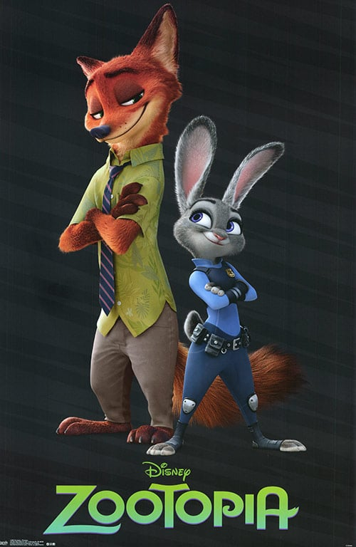 Zootopia Best Posters - The Cop Team