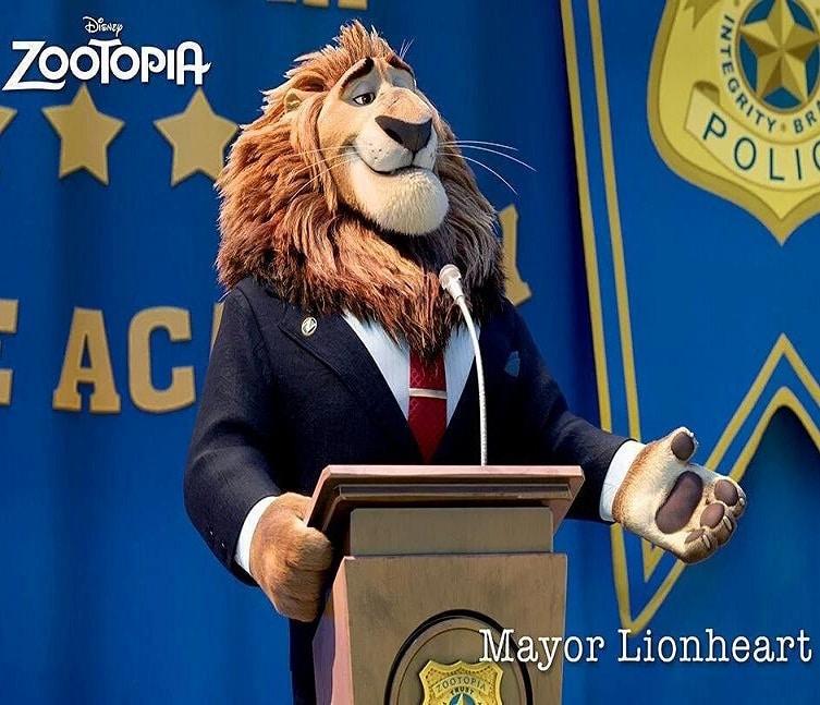 Zootopia Best Posters - Mayor Lionheart