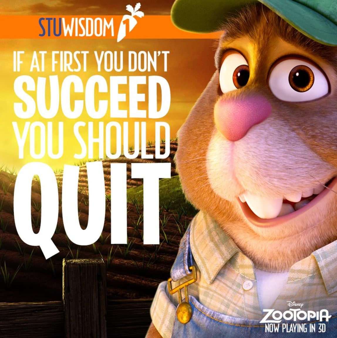 Zootopia Best Posters - Demotivational Quotes Of Stu