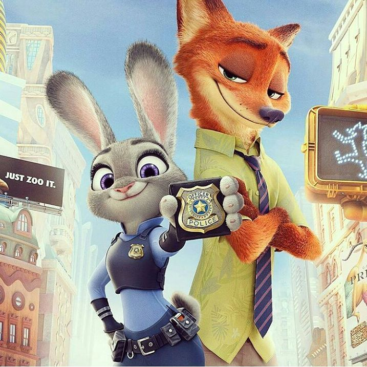 Zootopia Best Posters - The Cop Buddies