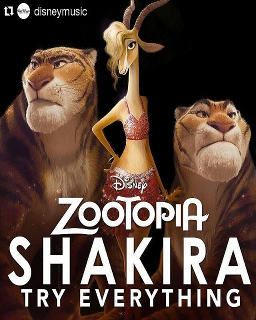 Zootopia Best Posters - Gazelle - Shakira - 2