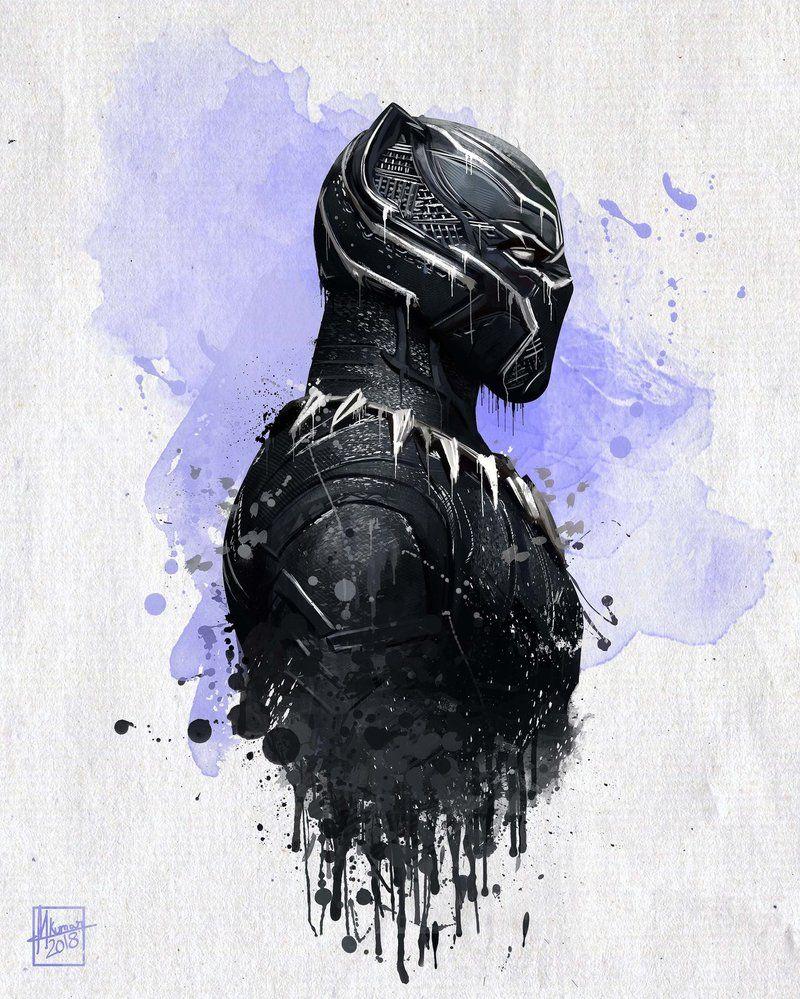 Black-Panther-hd-printable-Poster-hd-wallpaper-painting-animation-cartoon-art
