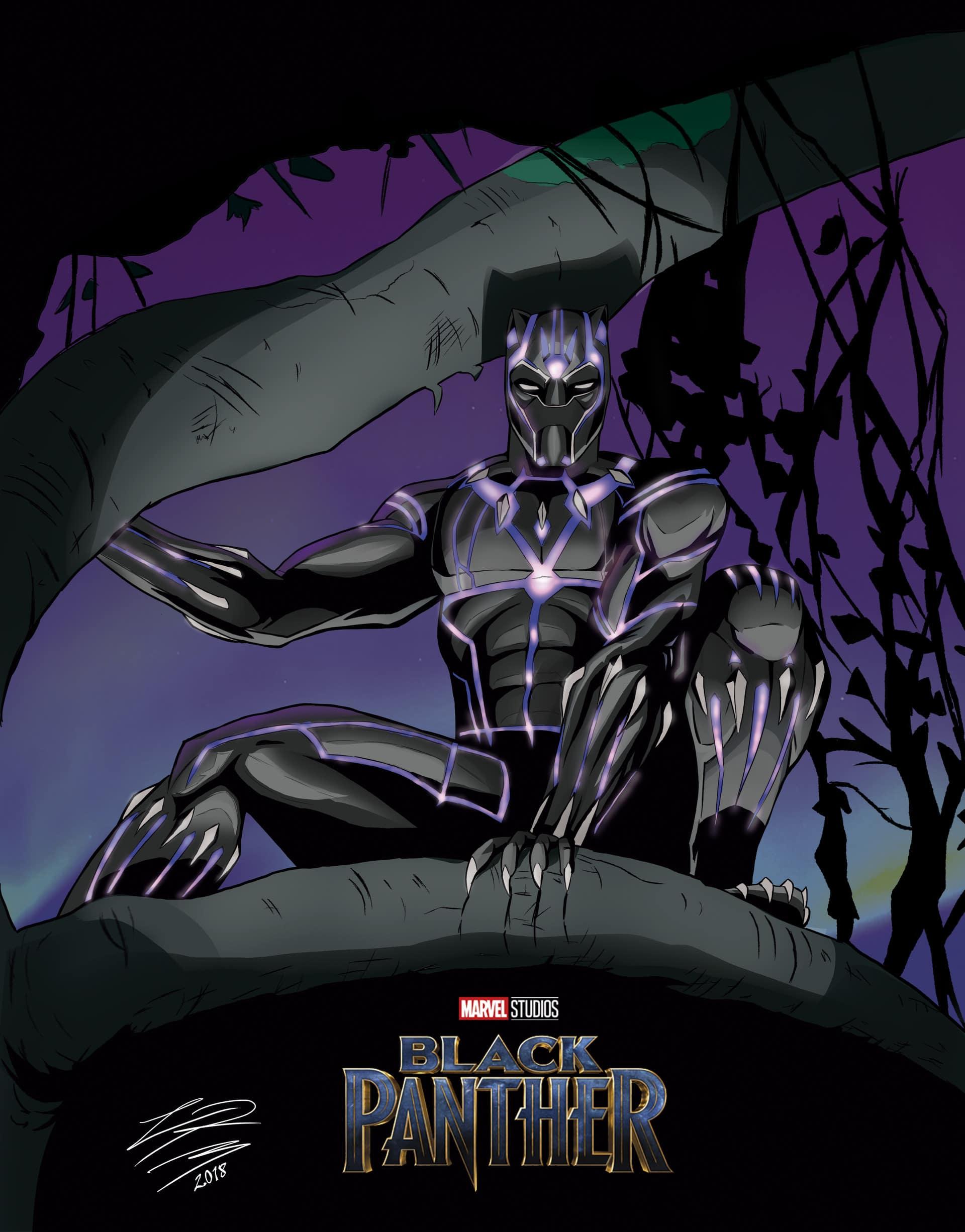 Black-Panther-hd-printable-Poster-hd-wallpaper-animation-cartoon-art