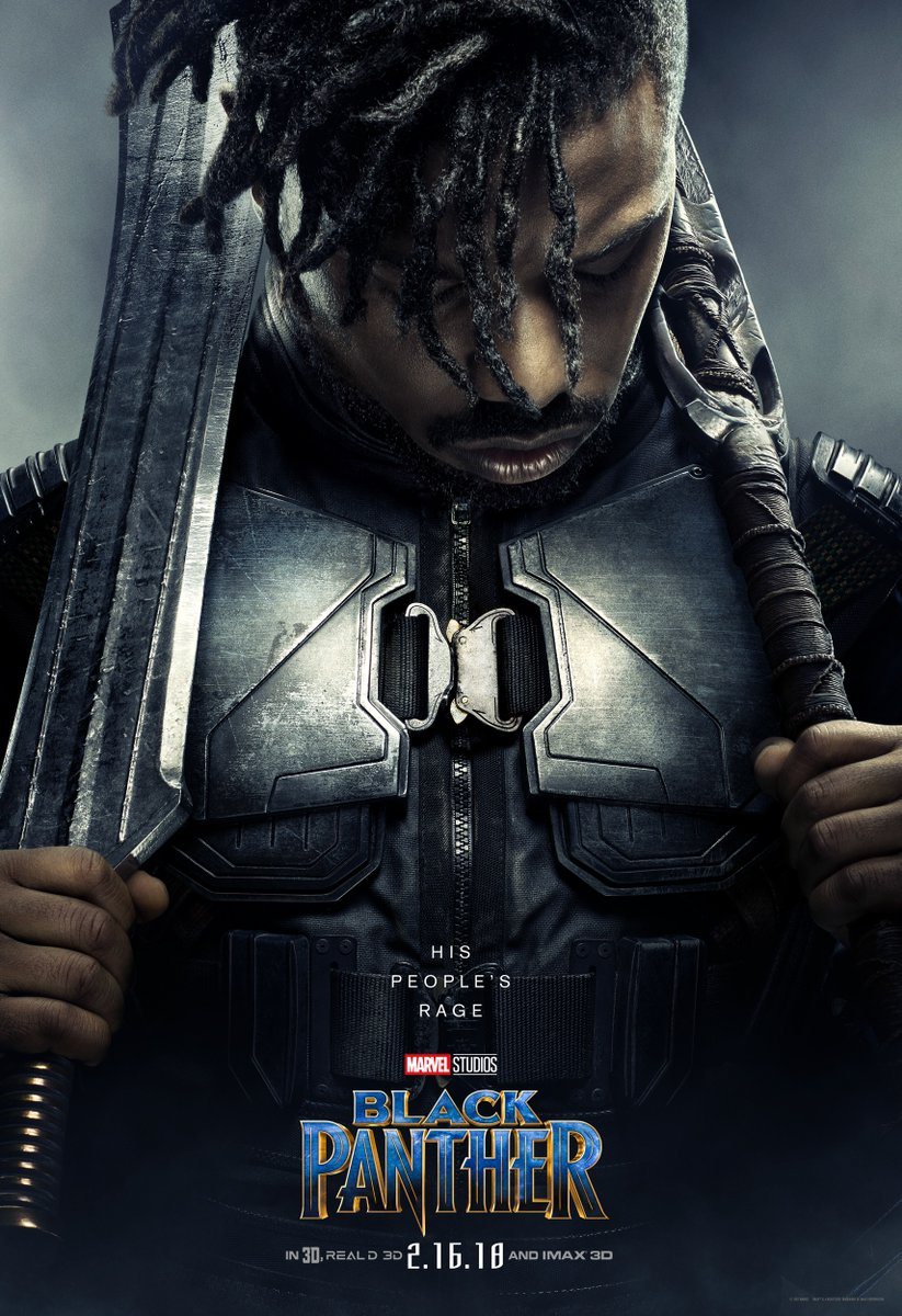 Black-Panther-hd-printable-Poster-hd-erik-killmonger-main-villain
