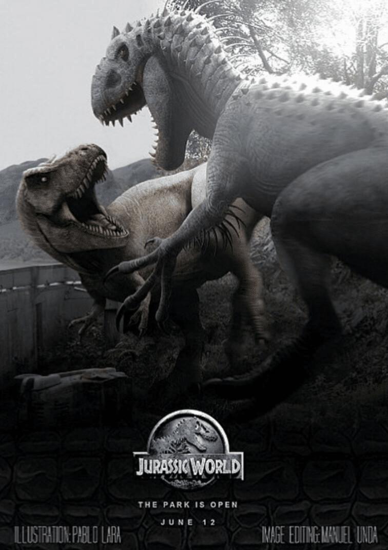 Jurassic-World-Poster-hd-printable-the-final-fight-t-rex-vs-indominus-the-main-monster