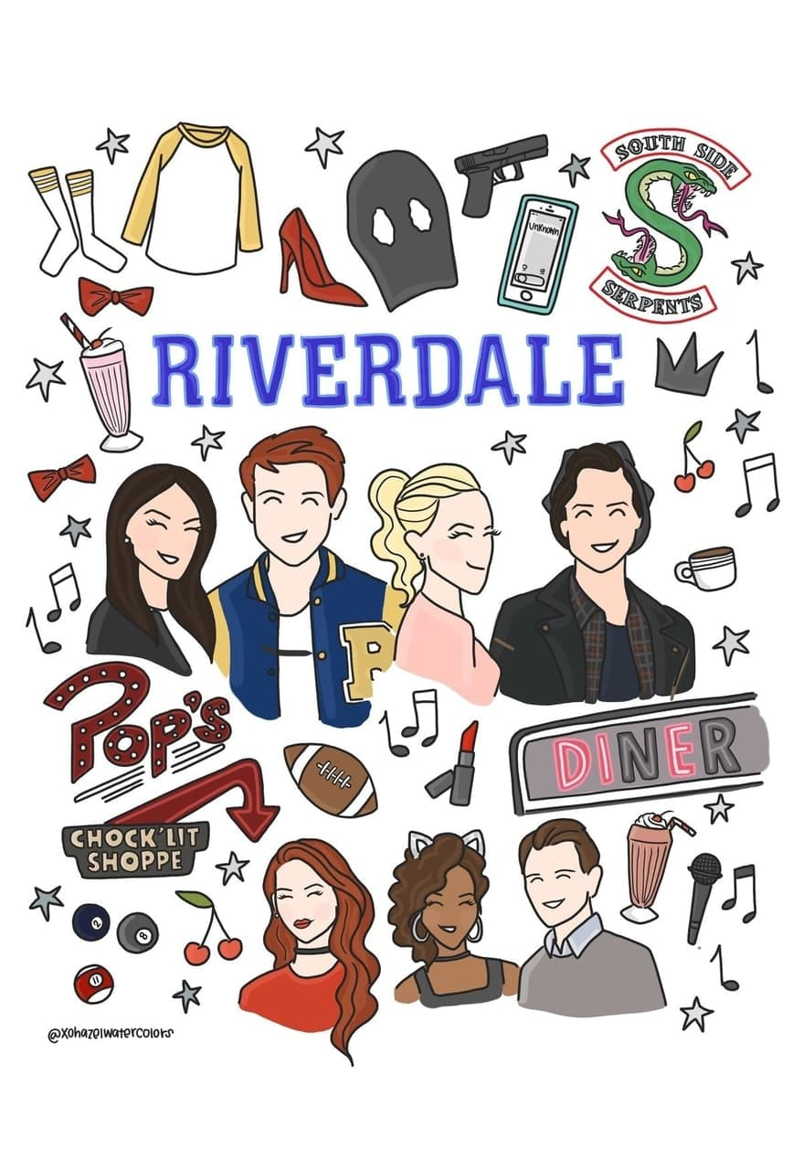 Riverdale poster cartoon