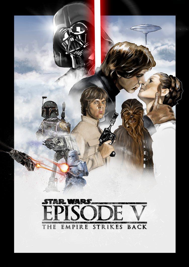 star wars the empire strikes back episode 5 1980 hd printable Poster wallpaper romantic kissing scene harrison ford